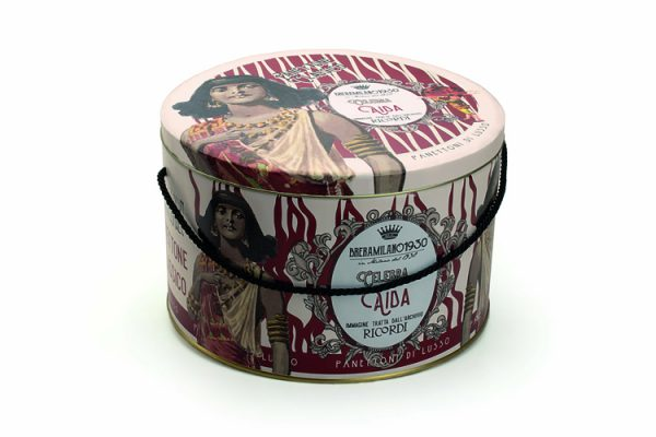 Aida ricordi BreraMilano1930 traditional panettone tin box